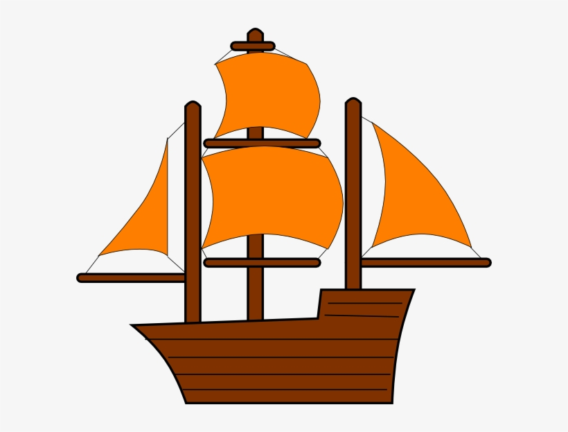 Pirate Ship Clip Art - Yellow Pirate Ship Clip Art, transparent png #286750