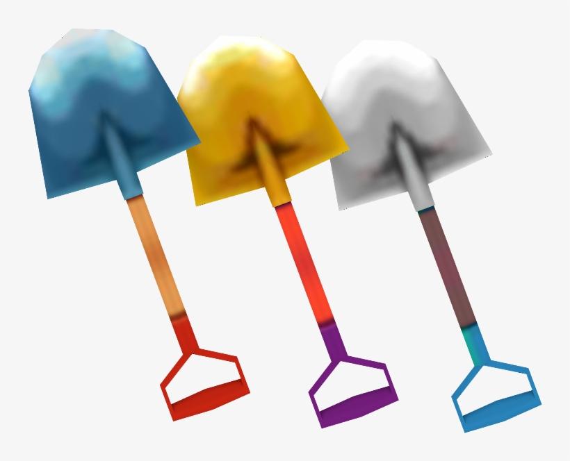 Download Zip Archive - Animal Crossing Shovel Model, transparent png #287019