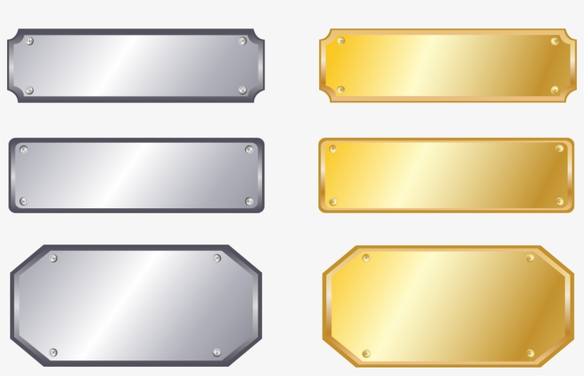 Metal Nameplate Silver Sign - Metal Name Plate Png, transparent png #288198
