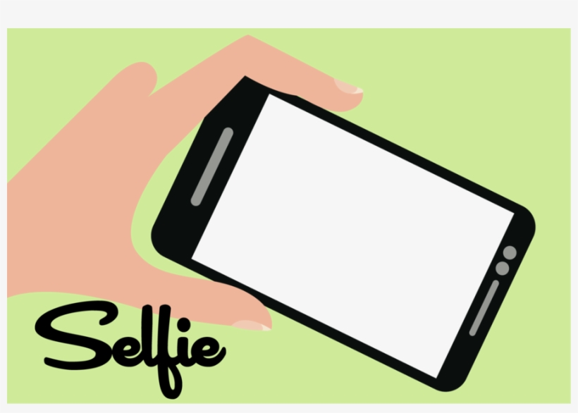 Png Selfie Text Clipart Selfie Mobile Phones - Cell Phone Camera Png, transparent png #288283