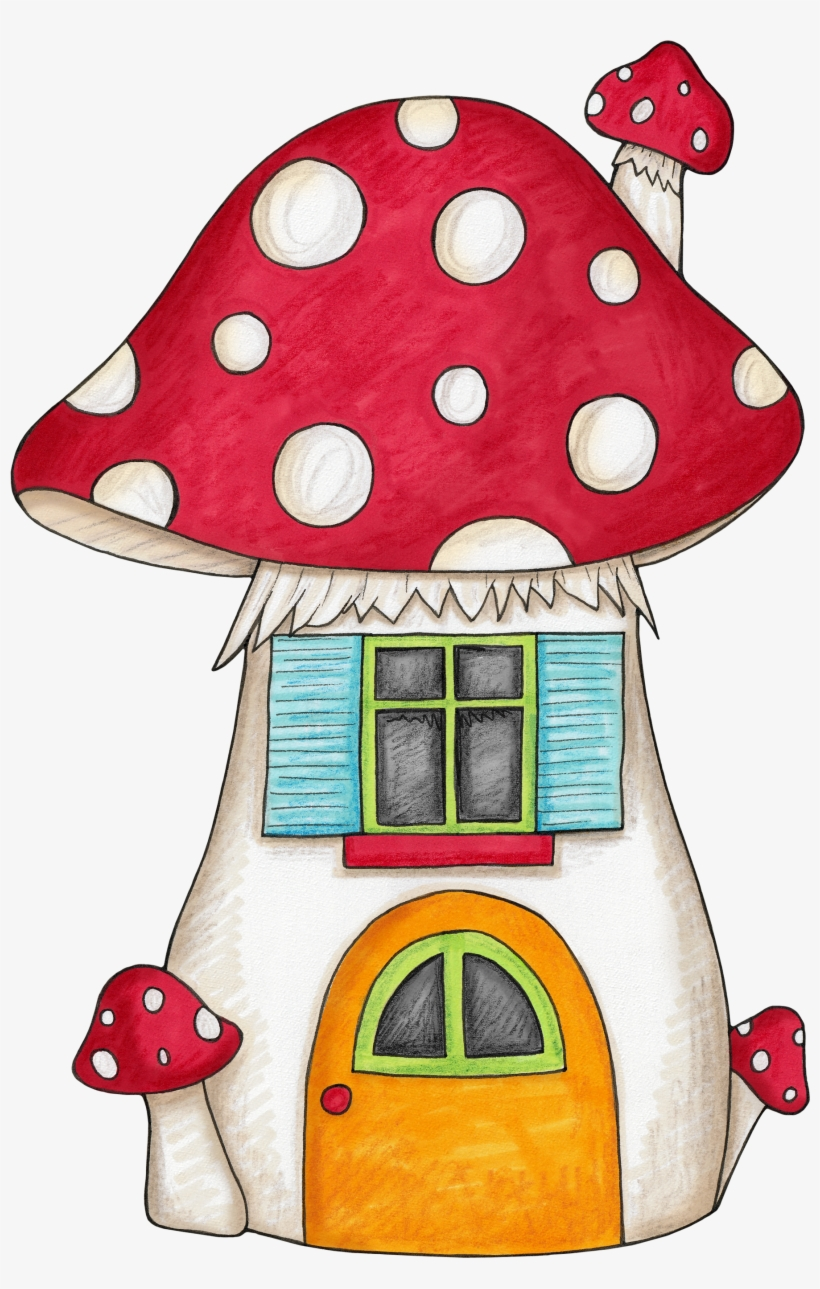 Vector Mushroom Valentine - Cartoon Mushroom House Drawing, transparent png #289420