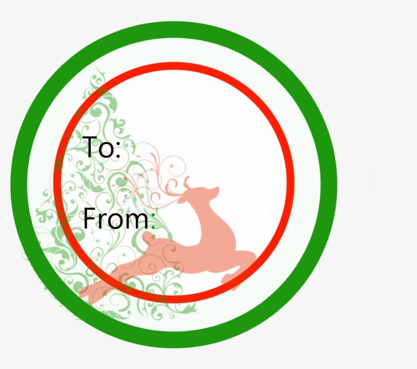 Printable Christmas Gift Labels / Tags - Free Printable Round Christmas Gift Tags, transparent png #2800211