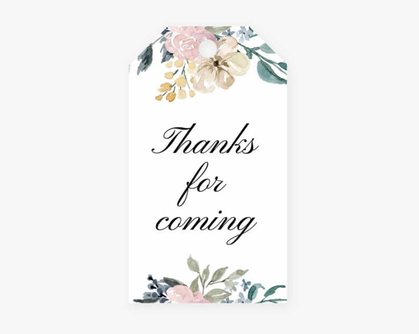 d2167a6b4 Whimsical Shower Favor Tag Template - Floral Blush Wedding Save The Date  Card
