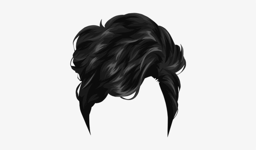 Short Black Drawing Hair - Black Hair Boy Png, transparent png #2801756