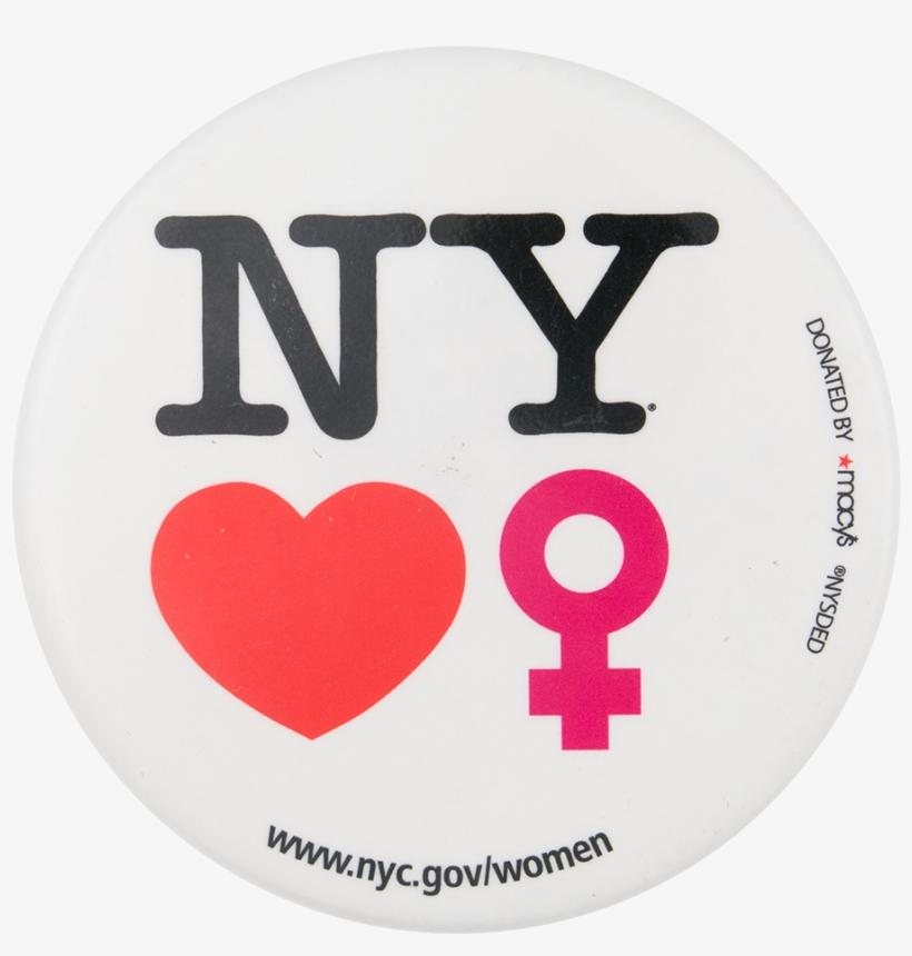 New York Loves Women I Love Button Museum - Milton Glaser I Love New York Logo, transparent png #2806695