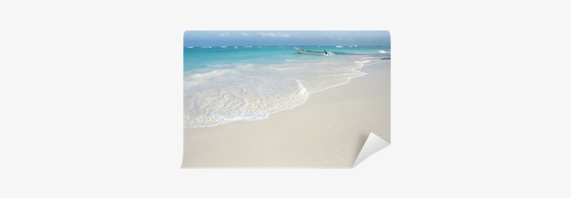 Tropical White Sand Beach And Ocean Background Wall - Sea, transparent png #2807241