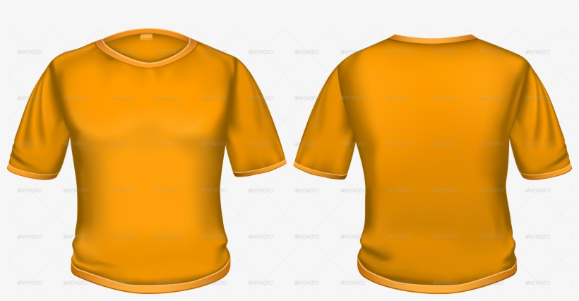 T Shirt Orange T Shirt Back And Front Png Free Transparent Png Download Pngkey