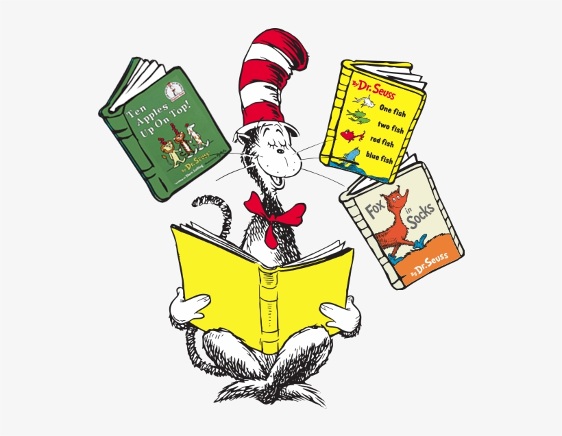 Dr Seuss Reading Clipart 5 By James - One Fish, Two Fish, Red Fish, Blue Fish Book &, transparent png #2810077