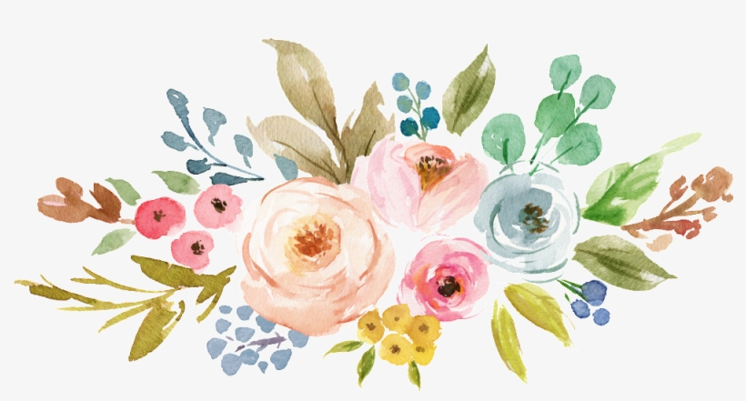 Ink Colorful Transparent Hand Painted Flowers Png - Watercolor Flowers Clipart Png, transparent png #2814839
