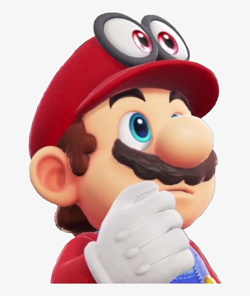 I Made A Transparent Image Of Mario Thinking For Your Super