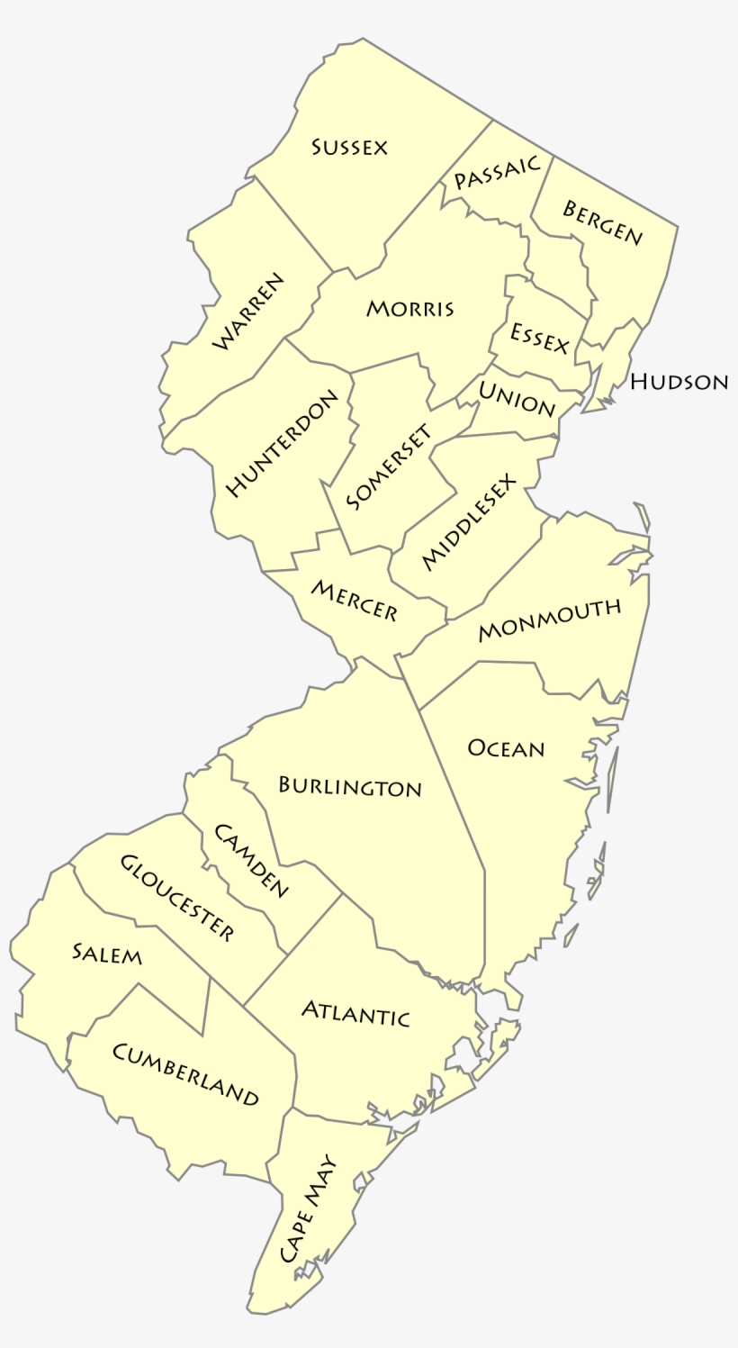 New Jersey Road Map - New Jersey - Free Transparent PNG ...