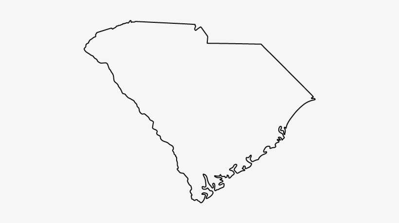 Admitted In The Following Jurisdictions - South Carolina Outline Transparent, transparent png #2824681