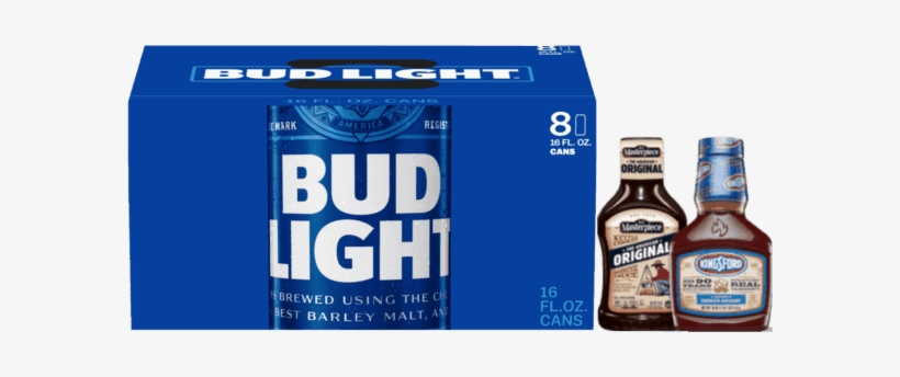 Bud Light Beer, 24 Pack, 16 Fl Oz, transparent png #2826403