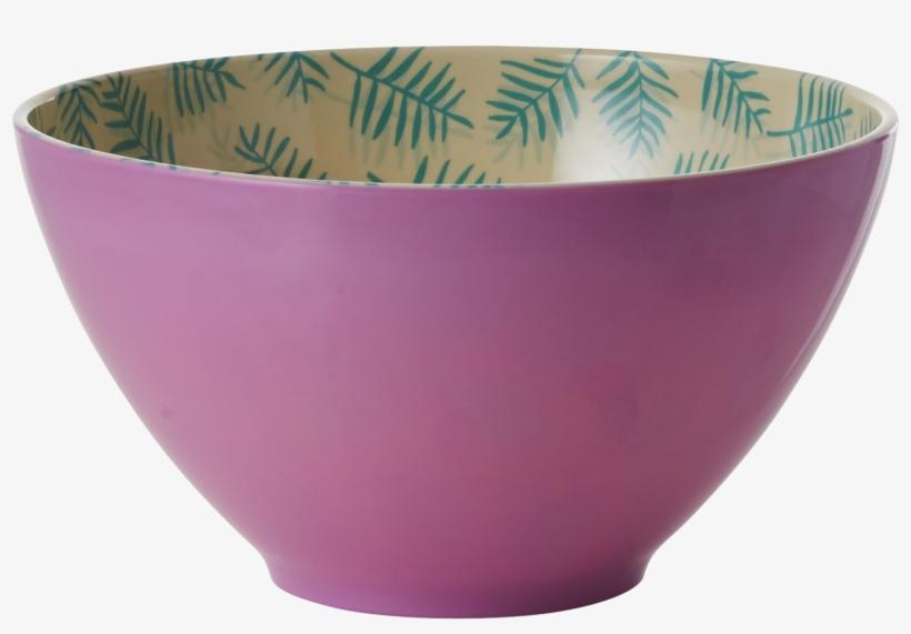 Rice Two Tone Melamine Palm Leaves Salad Bowl, transparent png #2828419