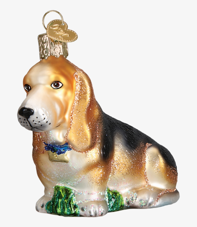 Bassett Hound Glass Ornament By Old World Christmas, transparent png #2828853