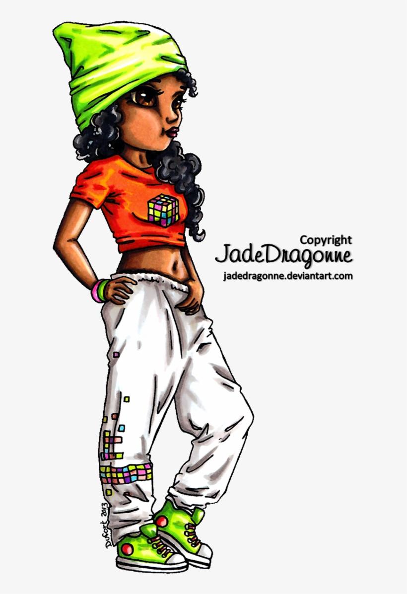 Hip Hop Dancer - Draw A Hip Hop Dancer, transparent png #2830277