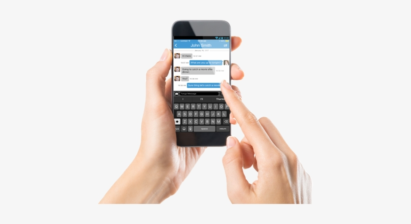 All Incoming Text Messages Are Free - Typing On Mobile Phone, transparent png #2831952
