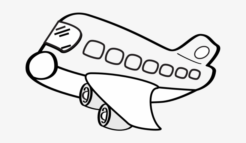Airplane Clipart Flight Cute Aeroplane Clipart Black And White