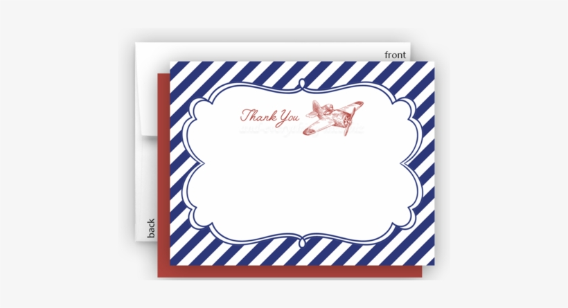 Vintage Airplane Ii Thank You Cards Note Card Stationery - Fazer Marianne Chocolate Filled Mint Candies, transparent png #2834483
