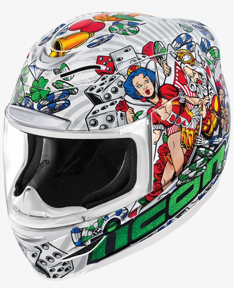 Icon Airmada Lucky Lid Full Face Shield Motorcycle - Icon Lucky Lid 2, transparent png #2835541