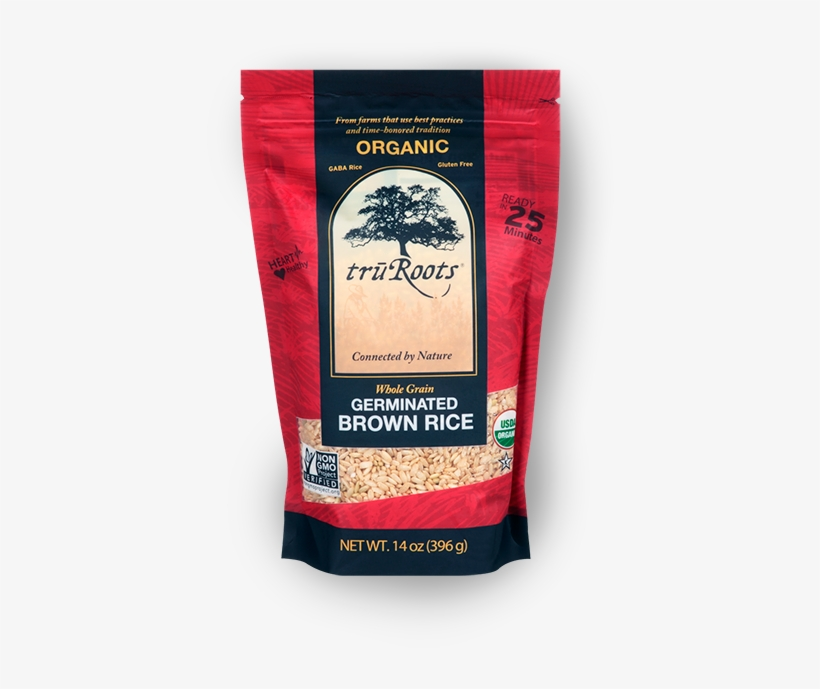 Organic Germinated Brown Rice, transparent png #2839036
