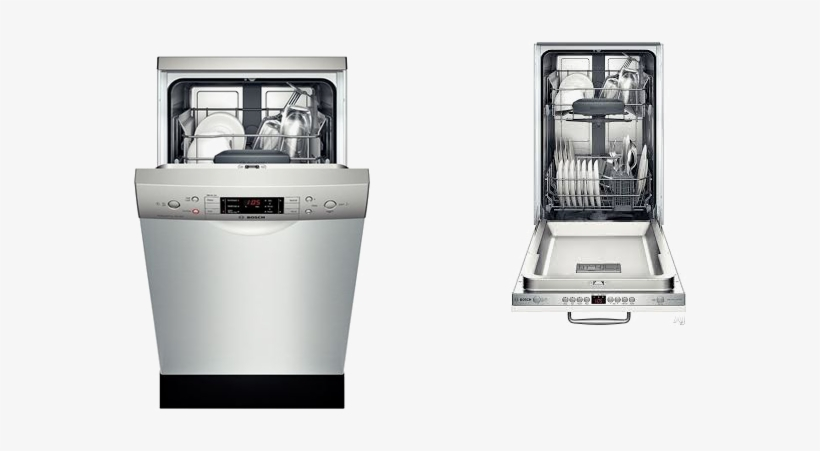 While Most Dishwashers Are Available In A Standard - Bosch 18 Dishwasher, transparent png #2839142