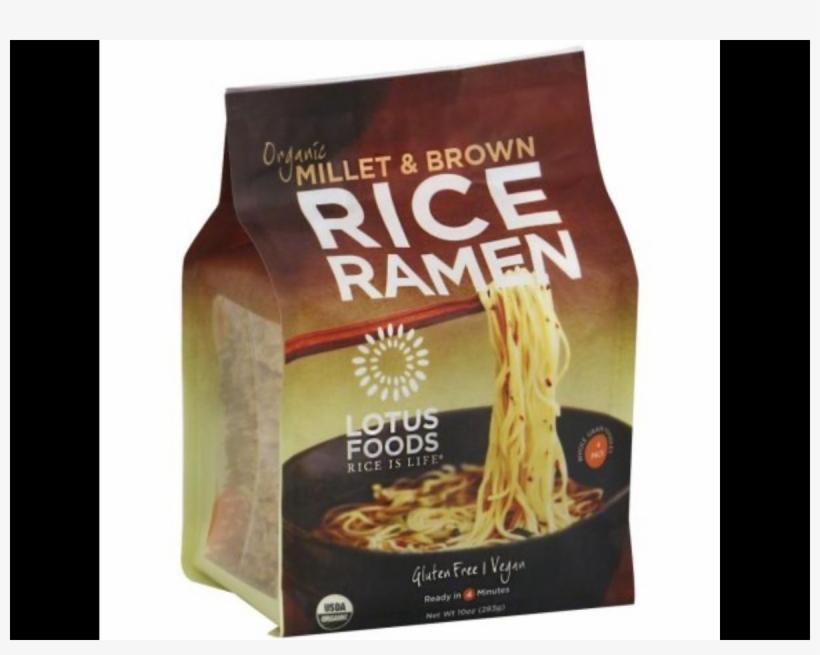 Rice Is Life, Millet & Brown Rice Ramen - Lotus Foods Organic Rice Ramen Noodles, Millet, transparent png #2839197