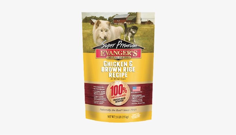 Evanger Dry Dog Food-chicken And Brown Rice - Evangers Dog Food, transparent png #2839276