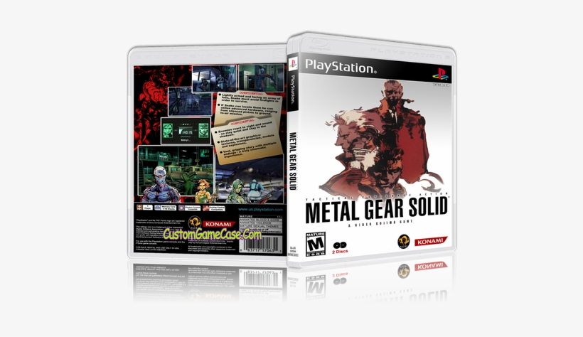 Metal Gear Solid - Metal Gear Solid 1 Ps1 Game Case, transparent png #2839718