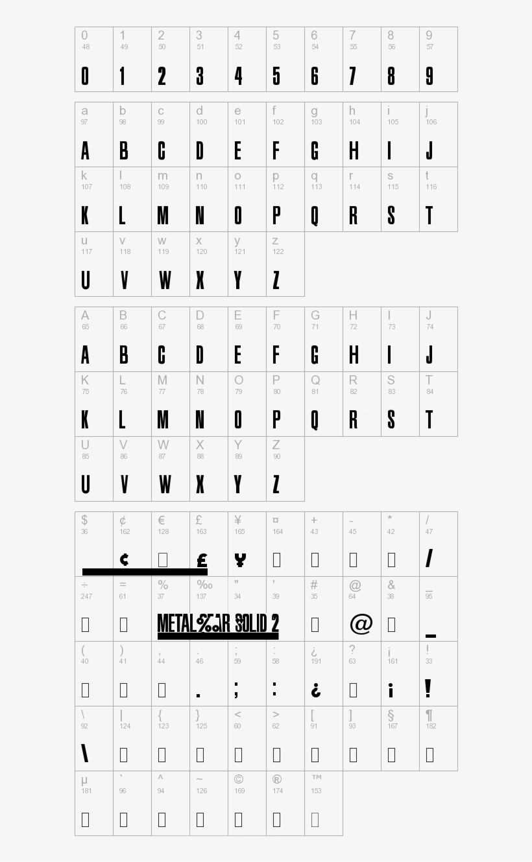 Metal Gear Solid - Metal Gear Solid 4 Fonts, transparent png #2840107