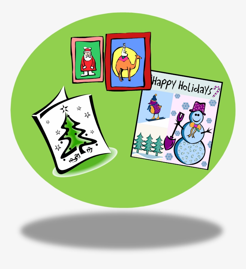 28 Collection Of Christmas Card Clipart Png - Christmas Cards Clipart Free, transparent png #2840467