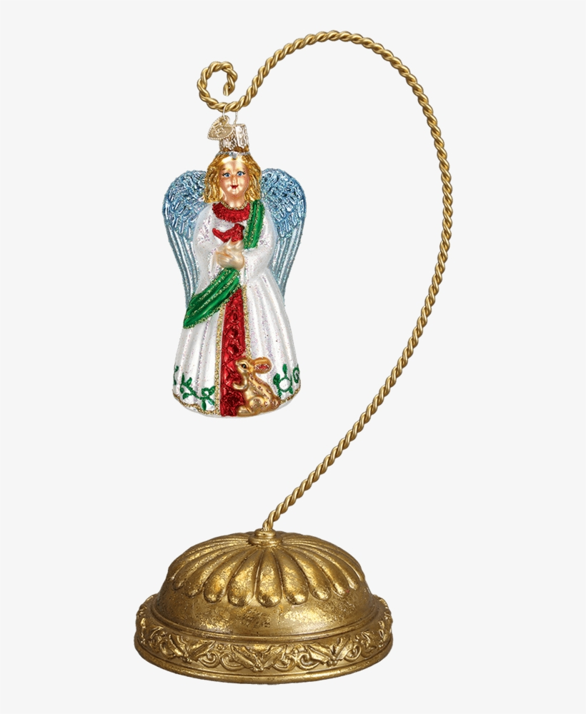 Christmas Ornaments, Home Decor, Indoor Decor, Ornament - Old World Christmas Gentle Angel Glass Ornament, transparent png #2841579