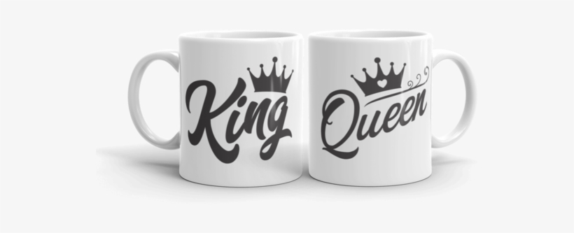 King & Queen Ceramic Mug Pack - King And Queen Coffee Cups, transparent png #2841738