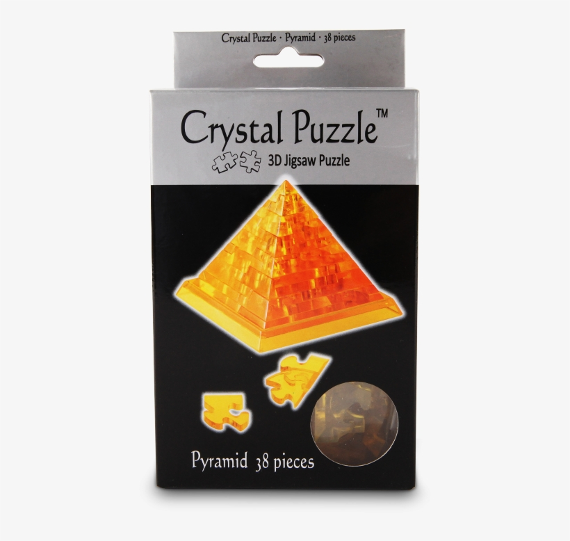 Pyramid 3d Crystal Jigsaw Puzzle 38 Pieces Fun Activity - Bepuzzled 3d Crystal Puzzle - Pyramid, transparent png #2841997