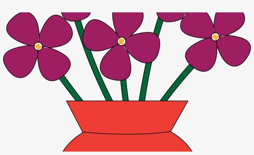 Vase Clipart 2 Flower - Vase Of Flowers Clipart, transparent png #2841999