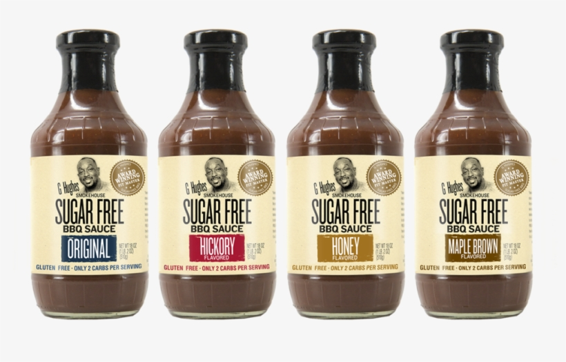 Ghughes Bbq 44 - G Hughes Sugar Free Bbq Sauce Original, transparent png #2842939