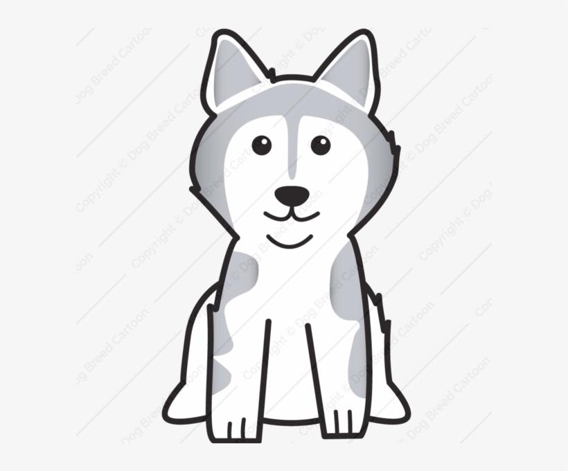 Buy Dog Caricature - Alaskan Malamute Dog Cartoon Tote Bag, Natural, transparent png #2843950