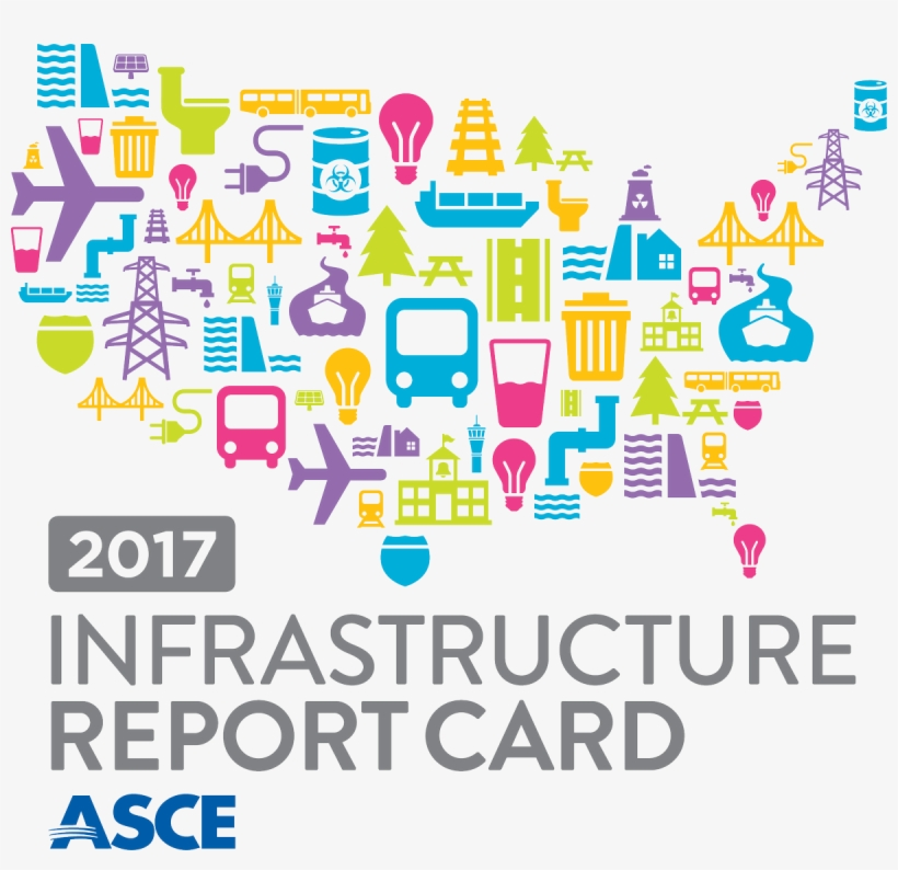 Asce Gov't Relations On Twitter - Asce Infrastructure Report Card 2017, transparent png #2846225