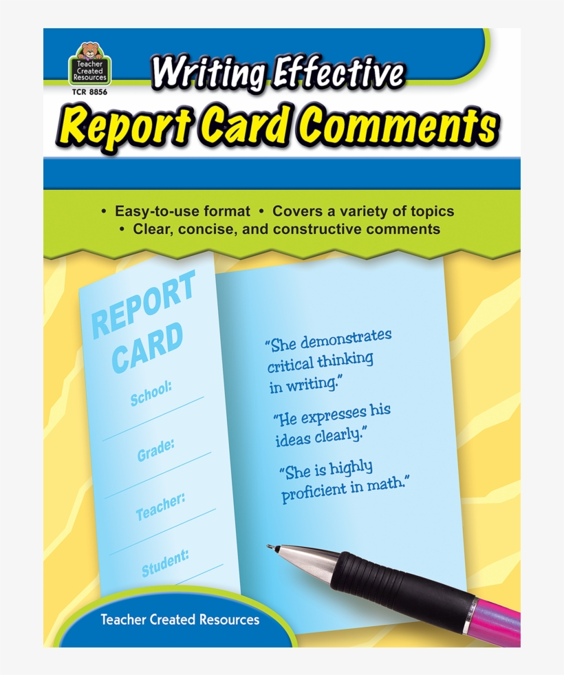 Tcr8856 Writing Effective Report Card Comments Image - Writing Effective Report Card Comments By Kathleen, transparent png #2846512