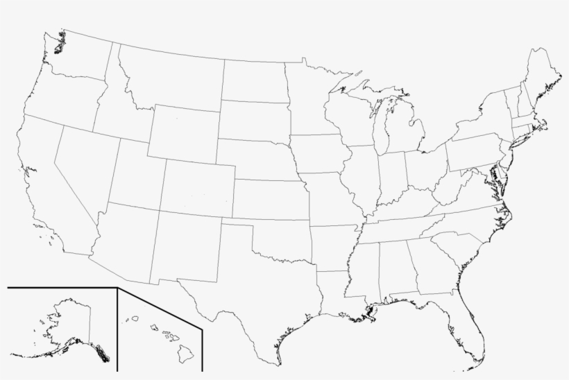 320 × 206 Pixels - High Resolution Blank United States Map, transparent png #2846513