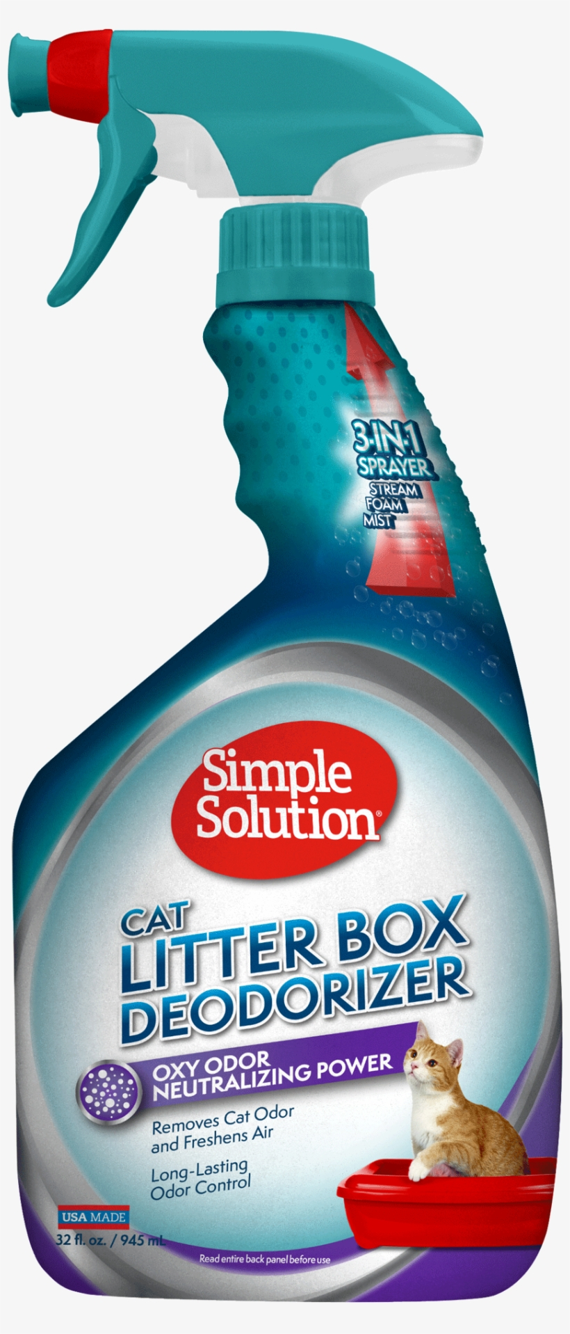 Simple Solution Litter Box Deodorizer,with New 3 In - Simple Solution Cat Litter Odour Eliminator, transparent png #2847575