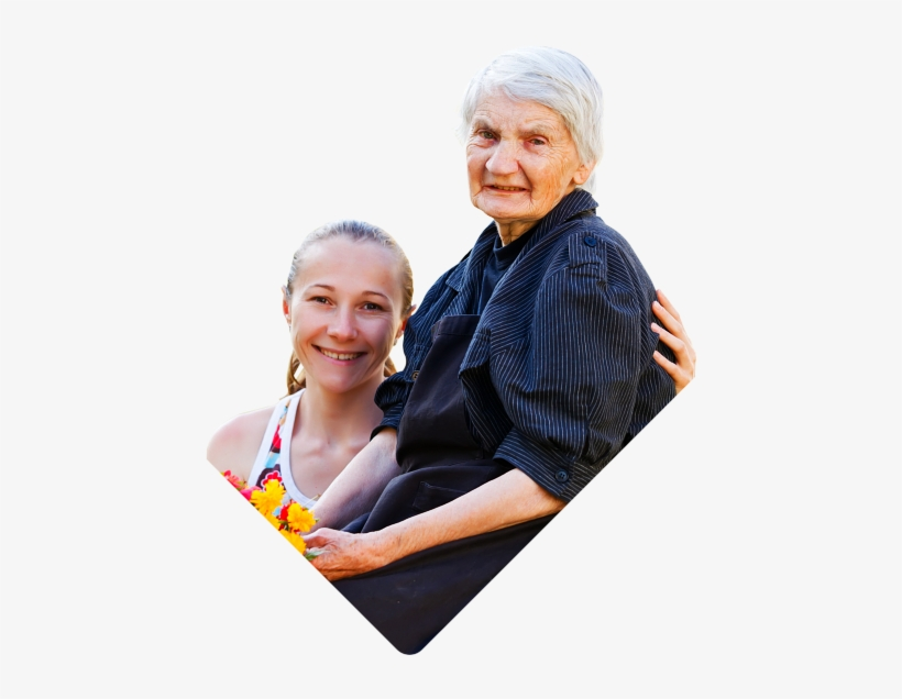 Smiling Caregiver And Elderly Woman - Star Home Health, transparent png #2847858