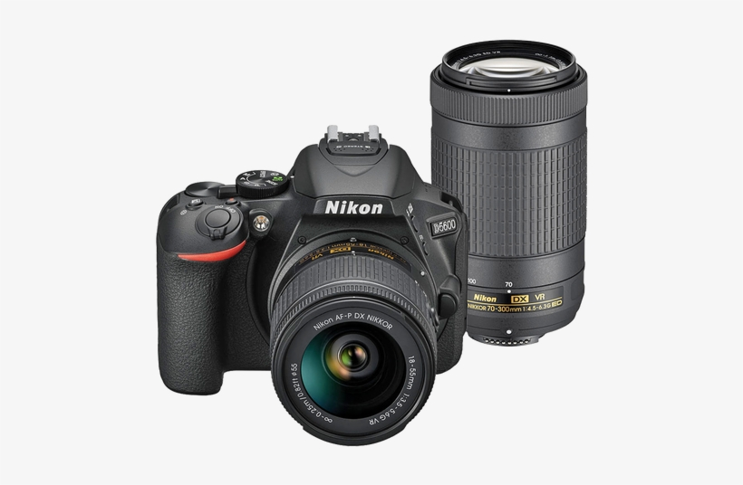 Nikon D5600 Af P 18 55mm Vr Af P 70 300mm Ed - Nikon D5600 (kit Af-p