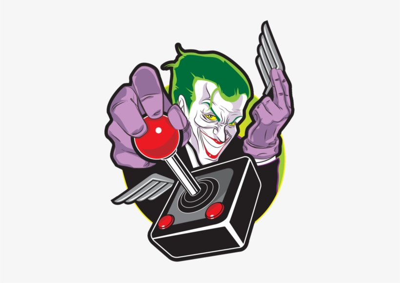 The Caped Crusader - Joker Playing Video Games, transparent png #2854281