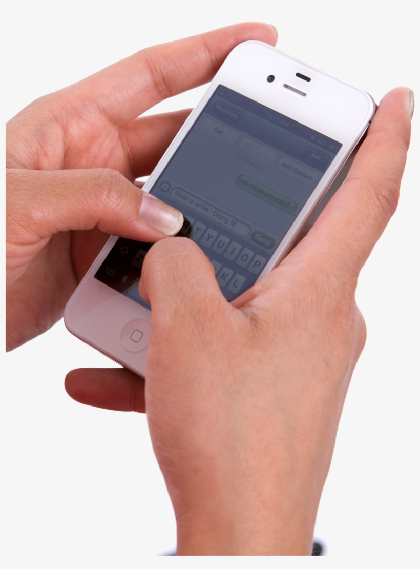 Download Mobile Cell Phone In Hand Png Transparent - Using Phone Png, transparent png #2854650