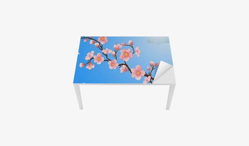 Blooming Cherry Blossom With Falling Petals - Cherry Blossom, transparent png #2855265