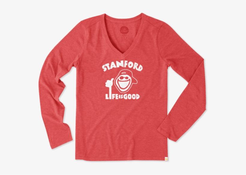 Women's Stanford University Peace Jake Long Sleeve - Life Is Good Women's Villanova Daisy Long Sleeve Cool, transparent png #2857641