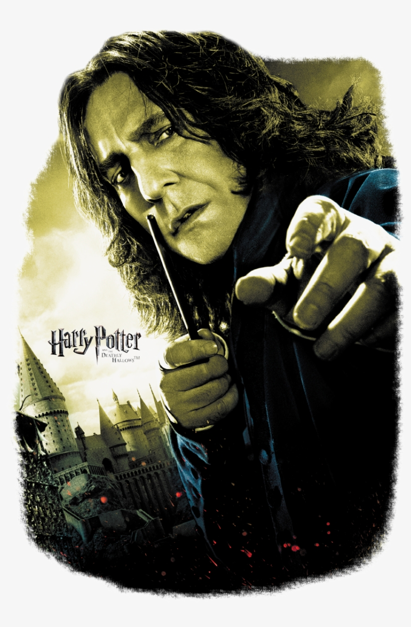 Harry Potter Snape Poster Youth T Shirt - Harry Potter And The Deathly Hallows Part 2 Snape Poster, transparent png #2858203