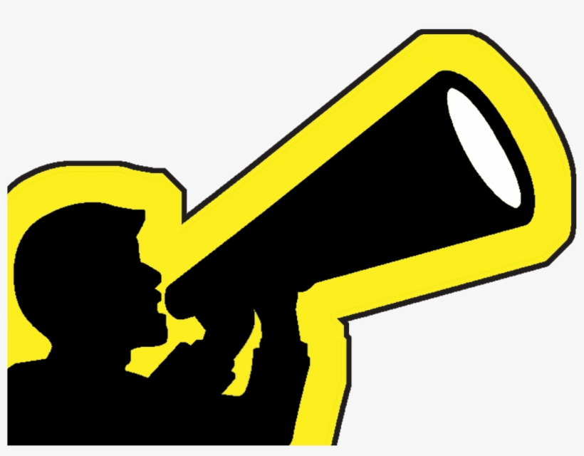 Megaphone yellow. Clipart free transparent png