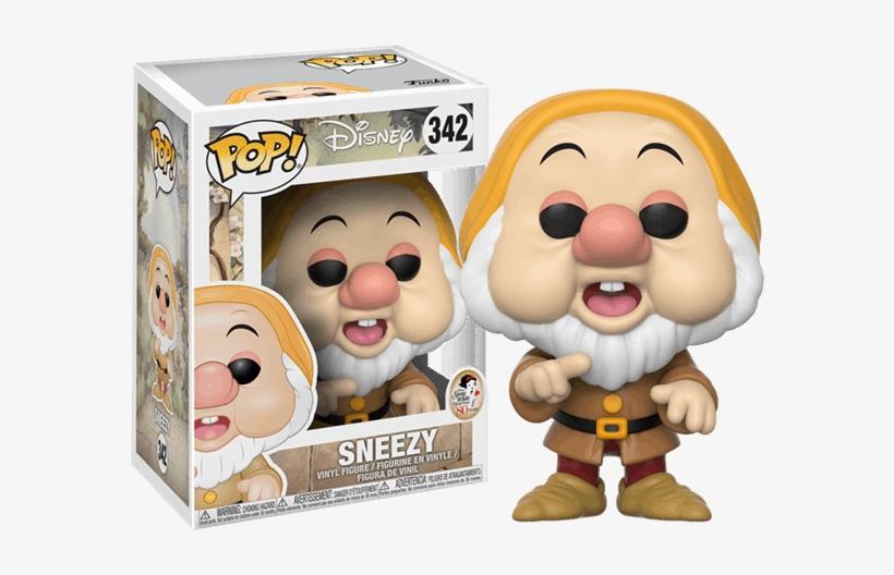 Snow White And The Seven Dwarfs - Disney Snow White Sneezy Pop! Vinyl Figure, transparent png #2861812